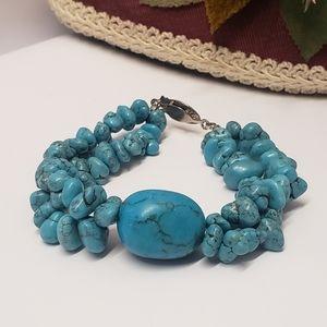 Gorgeous Vintage Turquoise Stone Bracelet